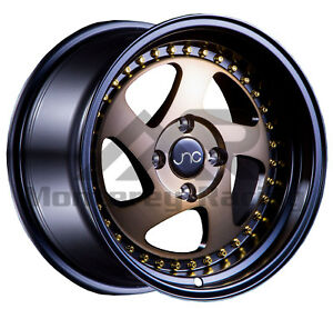 18x8 5 5x108 Jnc 034 Matte Black And Bronze Made For Ford Volvo