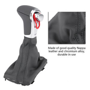 Outstand Nappa Alloy Gear Shift Knob Gaiter Boot Cover For Audi B8 A4 A5 Q5 Hy