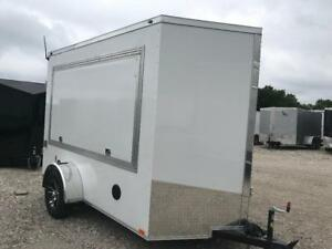 Tailgate Trailer Enclosed Trailgating Trailer For Sale 6x10 V Nose With Stereo