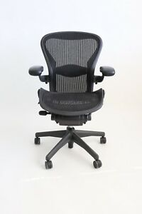 Herman Miller Aeron Size B medium Chair Graphite Black Fully Adjustable