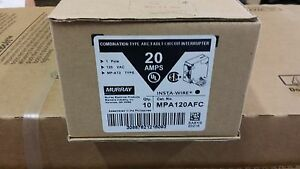 Murray Mp120afc 20 amp 1 Pole Combination Type Arc Fault Circuit Int 10 Pack