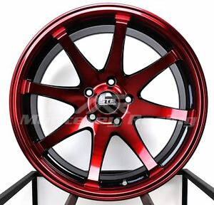 18x9 5x105 Str 903 Black And Red Made For Chevy Cruze Sonic