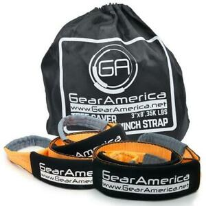 Gearamerica Tree Saver Winch Strap 3 X8 Heavy Duty 35 000 Lbs Lifetime Warranty