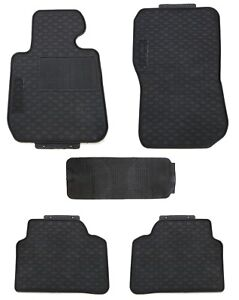 Floor Mats For 2012 2018 Bmw F30 3 Series Sedan Black Rubber All Weather