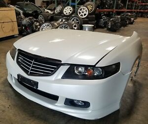 2004 2007 Acura Tsx Jdm Front End Conversion Nose Cut Cl7 Honda Accord White 4dr