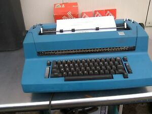 Ibm Cabolt Blue Selectric Ii Electric Typewriter W 3 Tapes