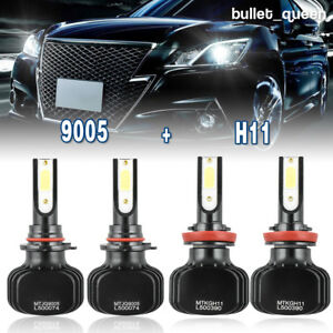 H11 9005 Combo Led Headlight Hi Lo Bulbs For 2012 2018 Dodge Ram 1500 2500 3500