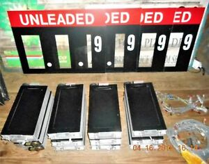 14 Gas Station Price Sign Electronic Scroll Price Changer New Old Stock