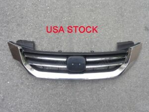 Front Bumper Upper Grille Grill Replacement For Honda Accord 2013 2014 2015