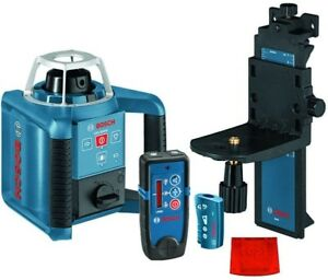 Bosch 1000 Ft Self Leveling Rotary Laser Level With Layout Beam Kit 6 Piece