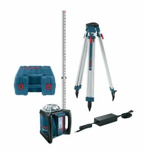 Bosch 1650 Ft Self leveling Rotary Laser Level Kit With Fully Automatic Dial