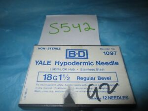 Bd Yale Hypodermic Needle 18g X 1 1 2 Pack Of 12