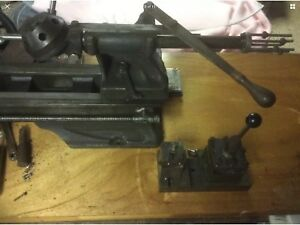 600a Atlas Lathe Turret Tailstock With Turret Duel Tool Post Off Of An H42
