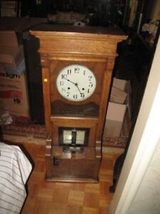 Vintage Antique Cincinnati Time Recorder Co Time Clock