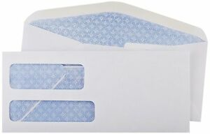 9 Double Window Security Envelopes 50 75 100 250 500 Free Fast Shipping