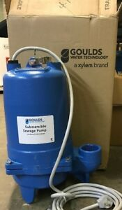 Goulds Submersible Sewage Pump 3 4 Hp 240 Volts Model Ws0712b