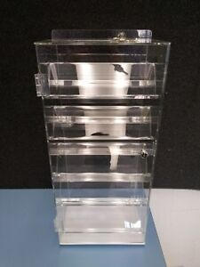 Rotating Display Case With Locking Doors Keys Included Clear Acrylic Ad