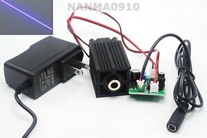 Line 100mw 405nm Focusing Purple Blue Laser Module W 12v Adapter Stage Lights