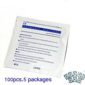 Electrodes For Contec Patient Monitor ecg ekg Disposable Electrodes 100pcs usa