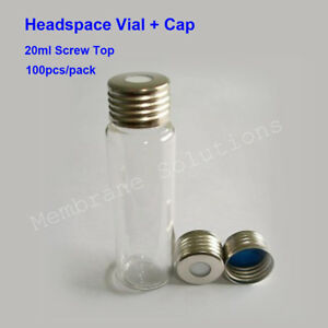 100 Pcs Pack 20ml Head Space Gas Chromatography Bottle Replace For Agilent Astm