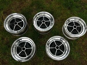 Vintage Buick Chrome Rally Wheels Matching Set Of 5 15x7 Mw 4 903 5 On 4 3 4