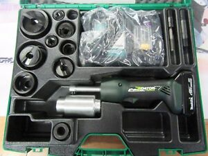 New Greenlee Gator Ls50l Battery Hydraulic Knockout Speed Punch Die 1 2 2