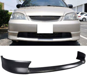 Fit 01 02 2dr Hfp Front Bumper Lower Lip Spoiler W pu Black