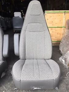 97 Chevy Gmc Express Savanna Van Bucket Seats Chairs Grey Cloth Driver Only