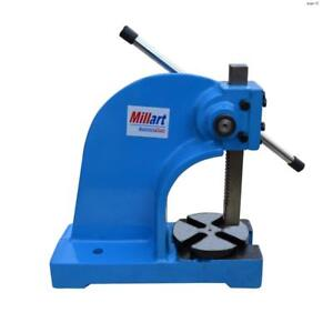Millart Heavy Duty Arbor Press 2 Ton 7 Height Manual Power Ratch Wheel Millart_