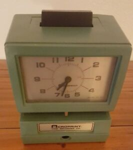 Acroprint Heavy Duty Time Clock Recorder For Parts