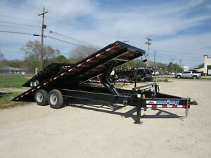 Load Trail 22 Deckover Tilt Trailer brand New power Up power Down 2 7000