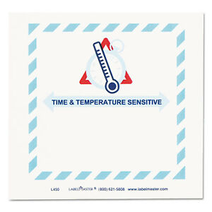 Shipping And Handling Self adhesive Label 5 1 2 X 5 Time temperature 500 roll