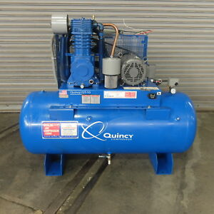 10 Hp Quincy Reciprocating Air Compressor Model Qt 10 120 Gallon Tank