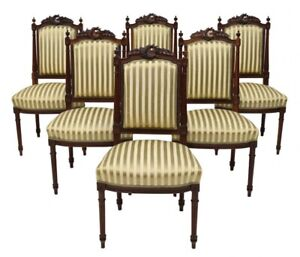 Antique Louis Xvi Side Dining Chairs Late 1800s Set Of 4