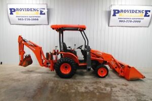 2015 Kubota B26 Hst 4wd Tractor Loader Backhoe Rear Aux Hydraulics