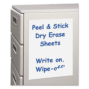 Peel And Stick Dry Erase Sheets 17 X 24 White 15 Sheets box