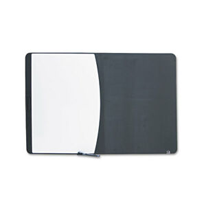 Tack Write Board 35 X 23 1 2 Black white Surface Black Frame