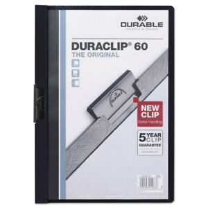 Vinyl Duraclip Report Cover W clip Letter Holds 60 Pages Clear navy