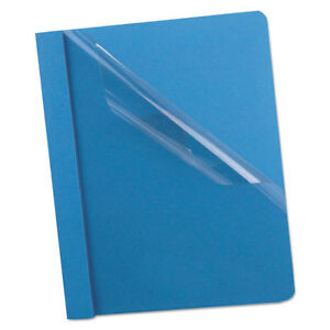 Oxford Premium Paper Clear Front Cover 3 Fasteners Letter Light Blue 25 box