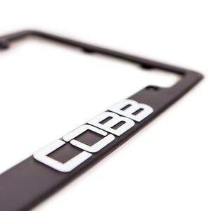 New Cobb Black License Plate Frame Jdm Subaru Mitsubishi Bmw Ford Accessport