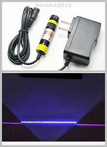 16x68mm Line Adjusted 300mw 405nm Violet blue Purple Laser Module W 5v Adapter