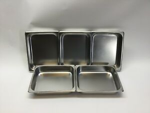 Update Half Size Standard Steam Table Pans 2 5 Deep Lot Of 5 model Stp 502