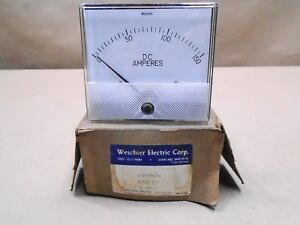New Weschler Electric 606b611a16 Panel Meter 0 150 Amp Dc