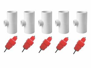 5 Pack Poultry Drinking Nipples Chicken Hen Automatic Water Drinker Fitting