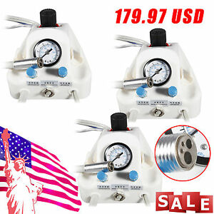 3 Sets Usa Stock Portable Dental Turbine Unit Work W Air Compressor Bottles 4h B