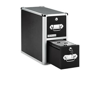2 drawer Cd File Cabinet Holds 330 Folders Or 120 Slim 60 Standard Cases Black