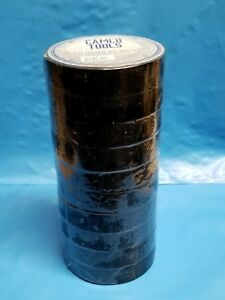 Pvc Black Insulating Tape 10 Rolls By Camco Tools Electrical 16mm Wide