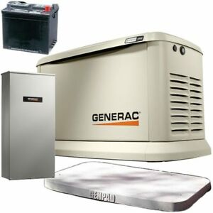 Generac Guardian 22kw Standby Generator System 200a Service Disconnect Ac