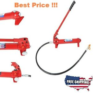 New Hydraulic Jack Ram 10ton 2000lbs Hand Pump Replacement For Lift Engine Hoist