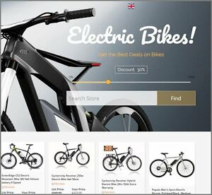 Electric Bikes Website Earn 561 00 A Sale free Domain free Hosting free Traffic